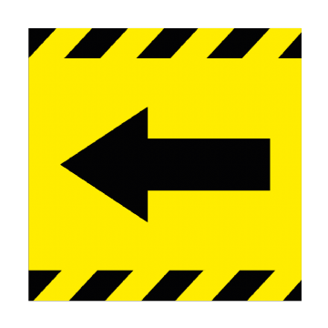 Directional Arrow - LEFT - 350mm Square